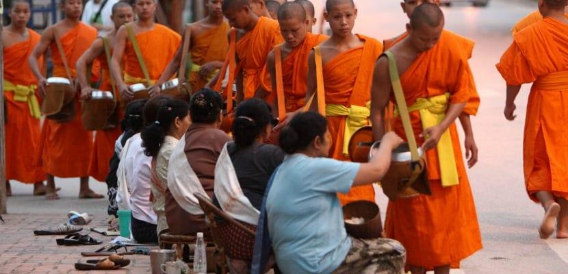 Luan Prabang monjes