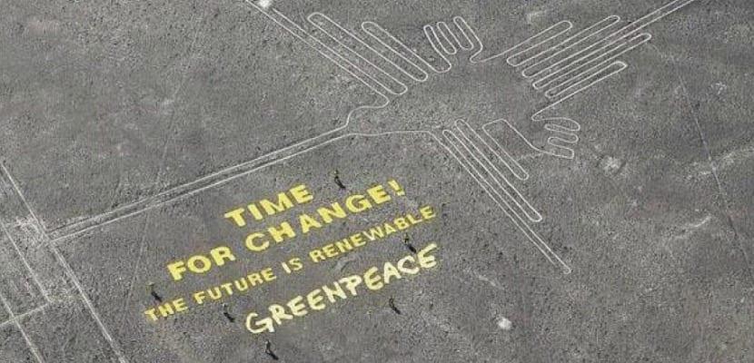 greenpeace en Nazca