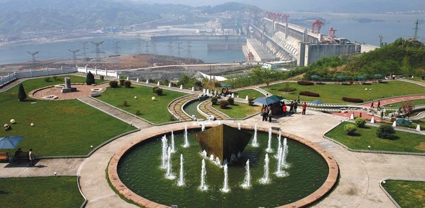 Zona Turística de la represa china