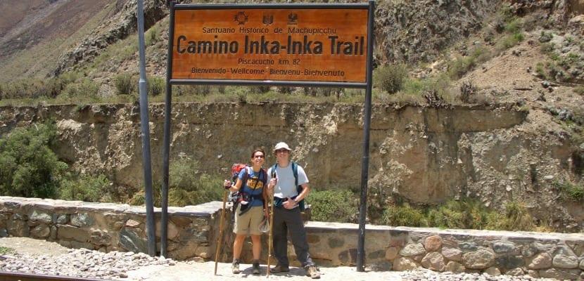 Señal Camino Inca
