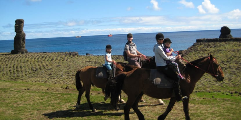 Cabalgatas en Rapa Nui