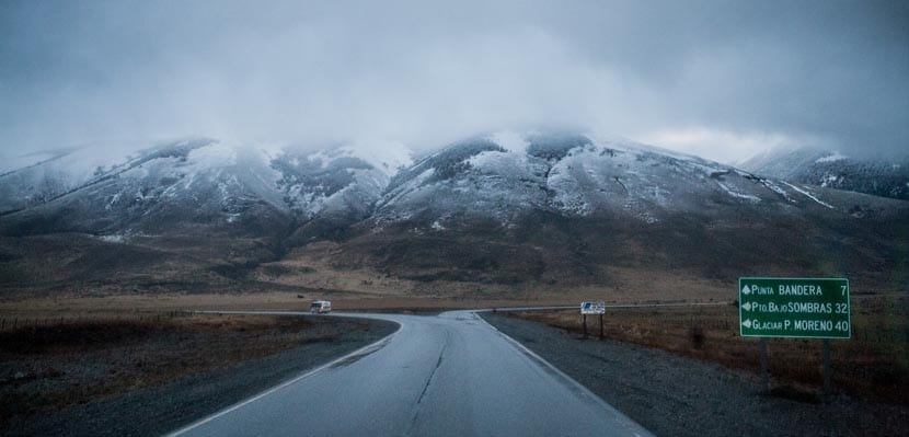Camino al glaciar Perito Moreno