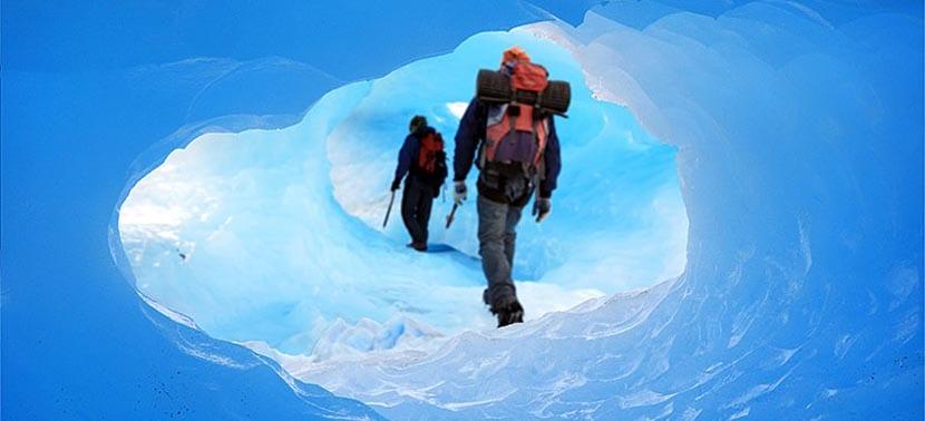 Cuevas en el Perito Moreno