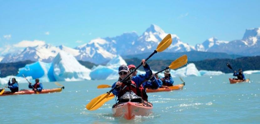 Kayaks en el Glaciar Upsala