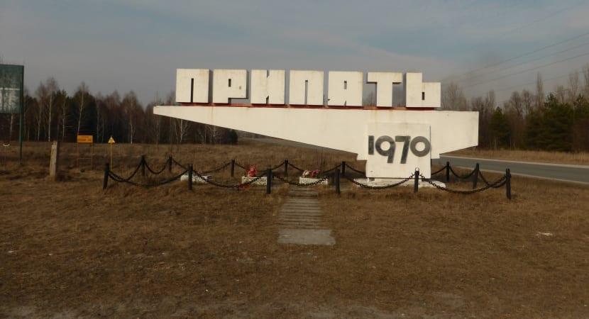 Entrada a Prypiat, Chernóbil