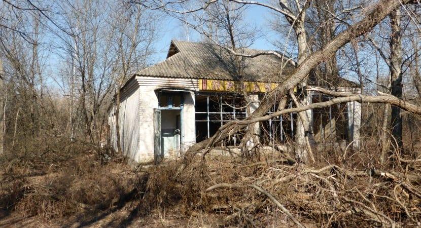 pueblo abandonado en Chernóbil