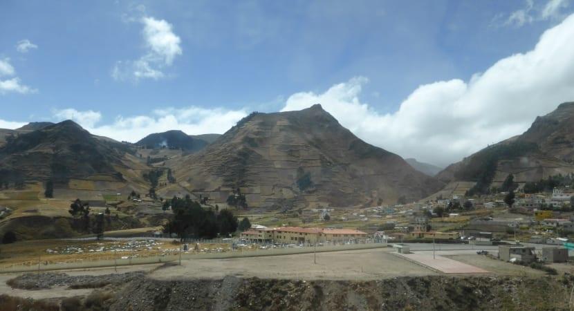 El Quilotoa volcán ecuador andes