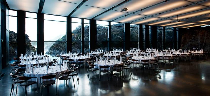 Restaurante en Blue Lagoon
