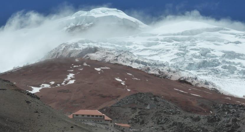 Refugio y glaciar del Cotopaxi