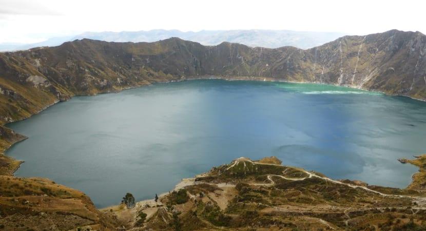 El Quilotoa volcán ecuador