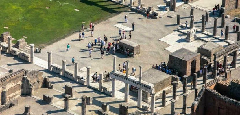 Vista aérea de Pompeya
