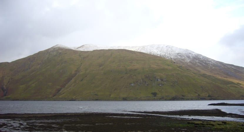 costa oeste irlanda nieve