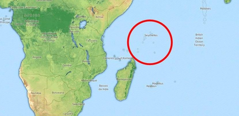 Mapa de las Seychelles