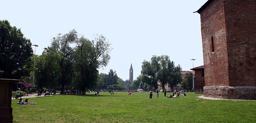 Jardines en Milán