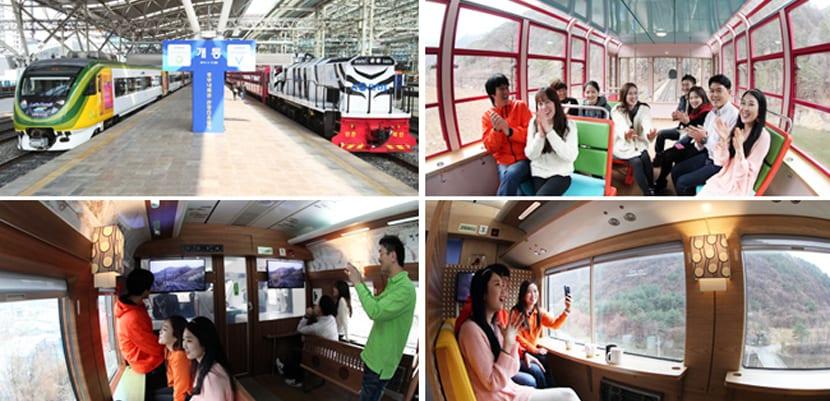 Trenes turísticos en Corea