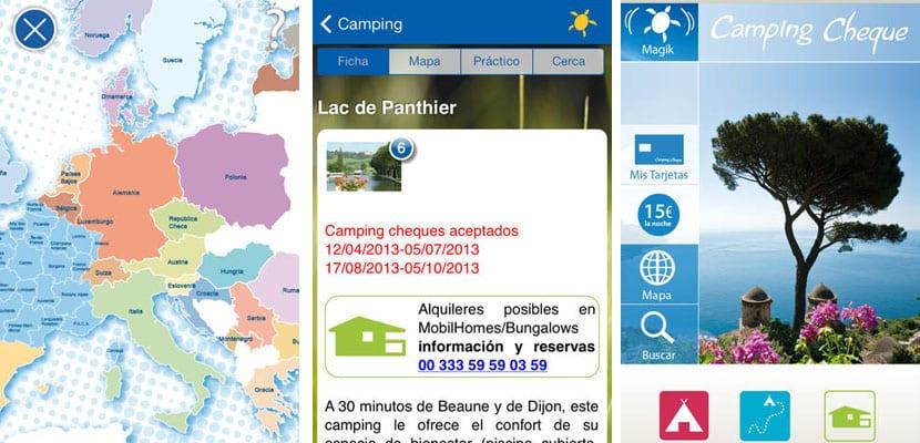 Apps para viajar, Camping Cheque