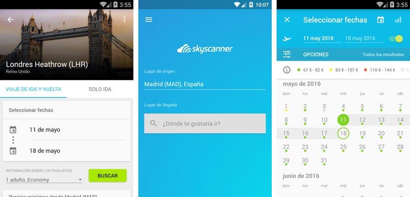 Apps para viajar, Skyscanner
