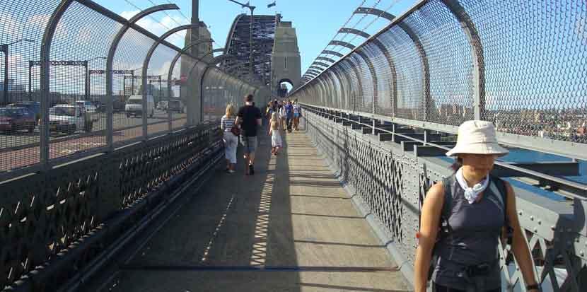 Cruzar caminando el Puente de Sidney