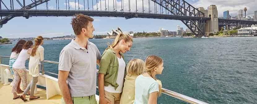 Paseos en bote en el puerto de Sidney