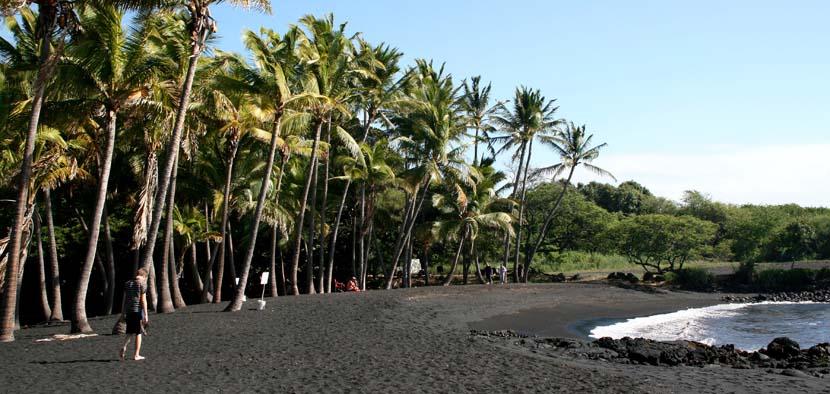 Playa negra Punaluu