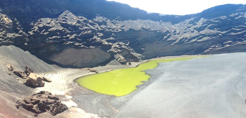 Lago verde en Lanzarote