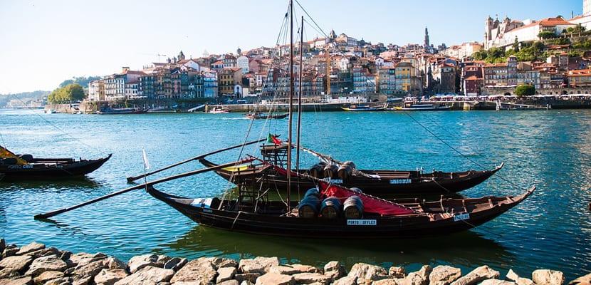 Orilla del río en Oporto