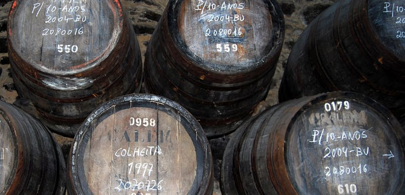Barriles de vino Oporto