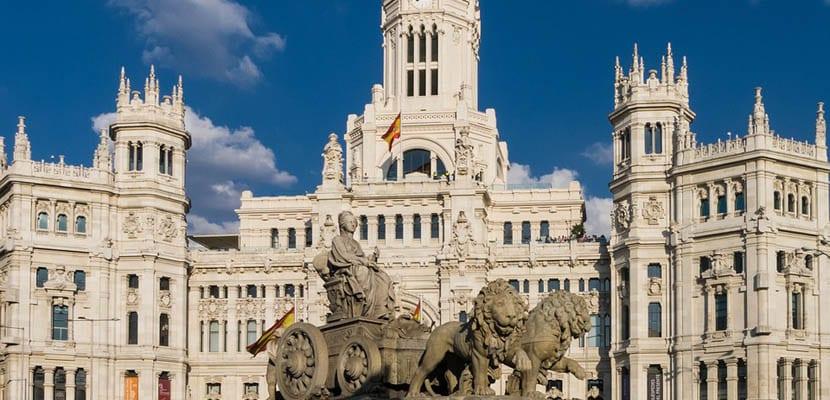 Cibeles en el centro de Madrid