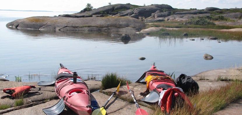 Kayaks en las Islas Aland