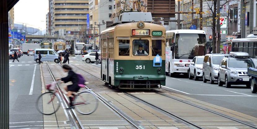 Tranvías en Hiroshima