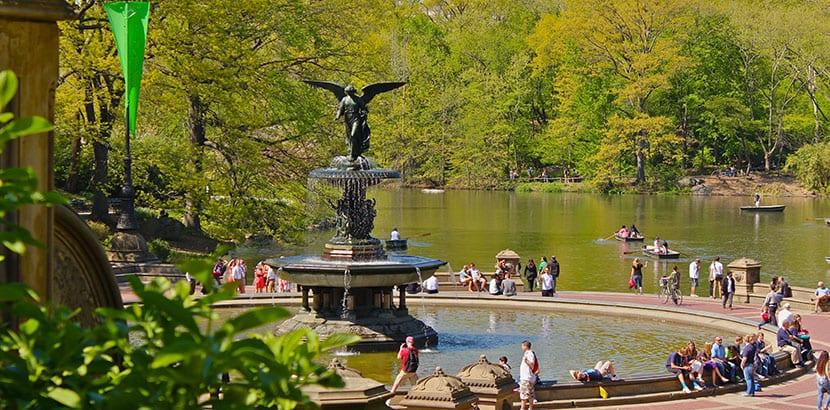 Botes en Central Park