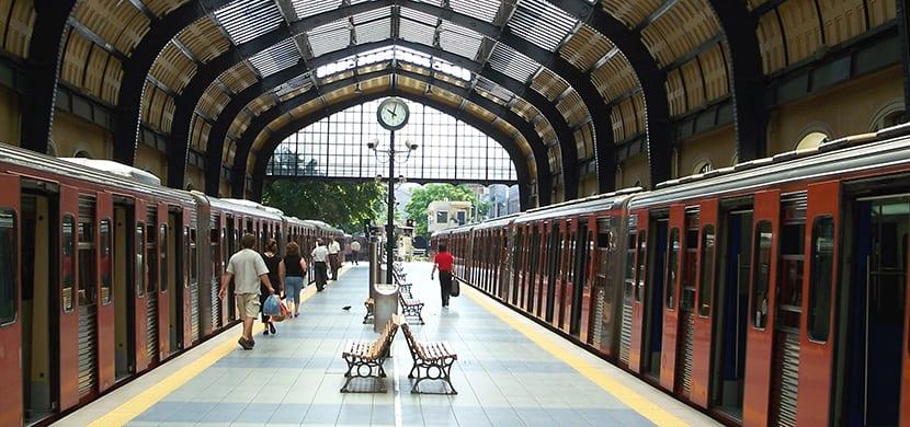 Estación del metro en El Pireo