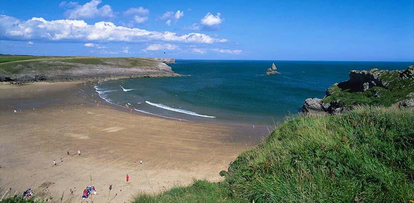 Playa Broad Haven en Pembrokshire