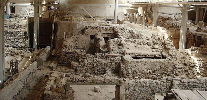 Yacimiento de Akrotiri