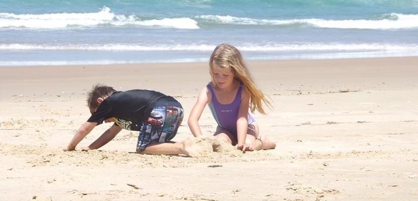 Vacaciones con niños en la playa