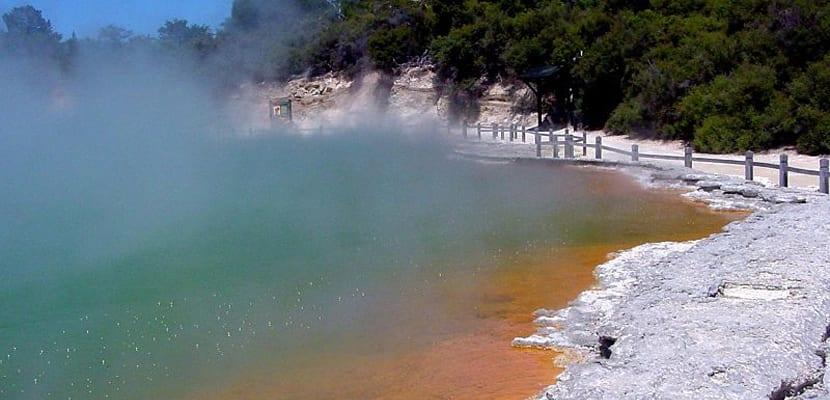 Champagne Pool en Nueva Zelanda