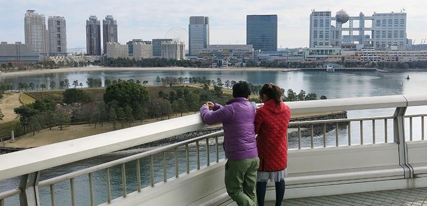 Odaiba desde el Puente Rainbow