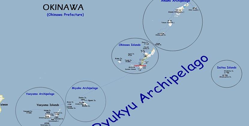 Mapa de Okinawa