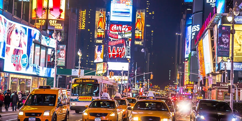 trafico en Times Square