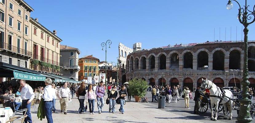 Piazza Bra en Verona