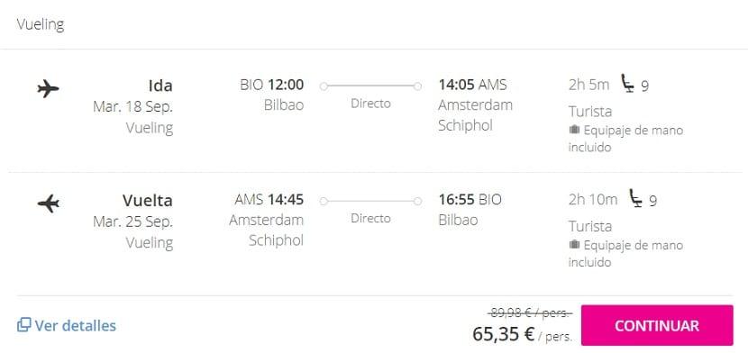 Oferta vuelo a Ámsterdam