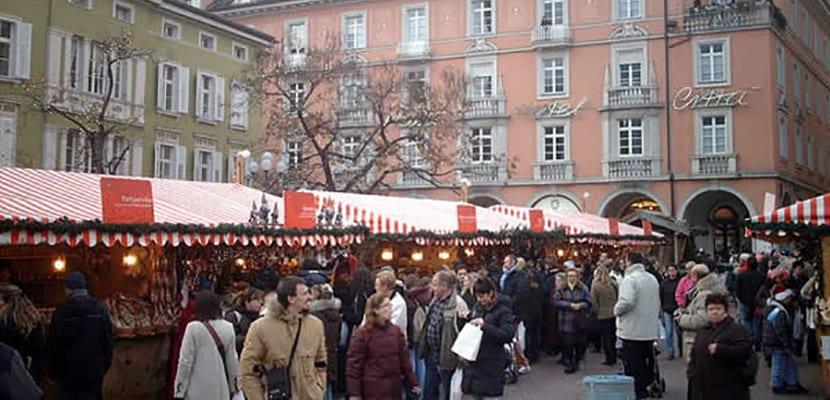 Mercado navideño en Bolzano