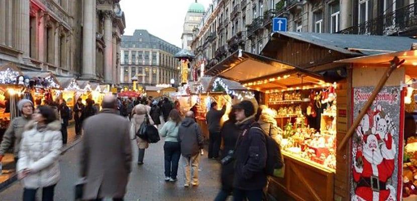 Mercado navideño en Bruselas