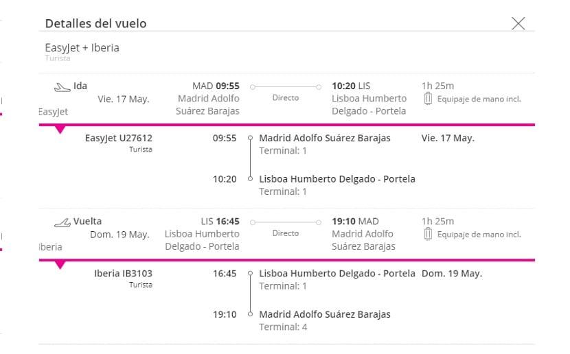 Oferta de vuelo a Lisboa