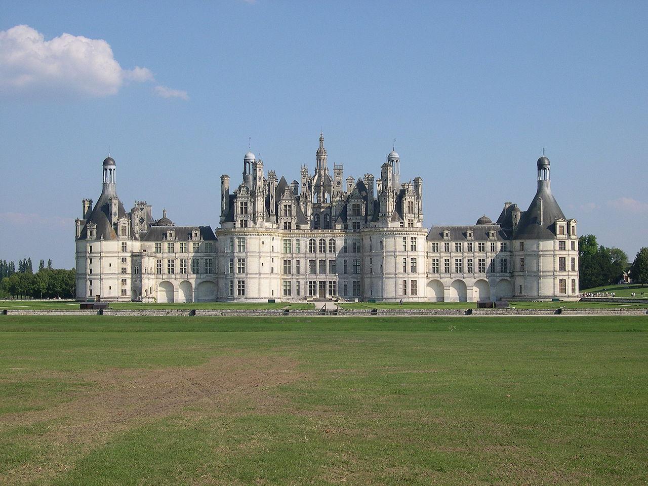 Vista del castillo de Chambord