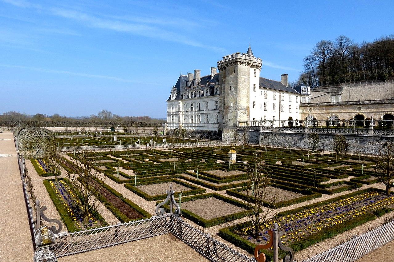 Vista del castillo de Villandry