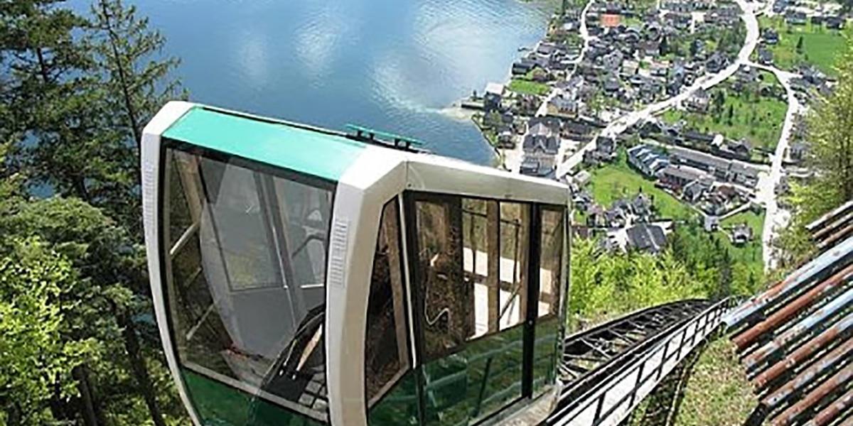 Funicular en Hallstatt