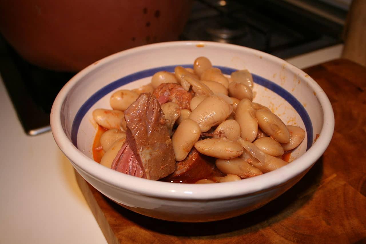 Un plato de judiones de La Granja