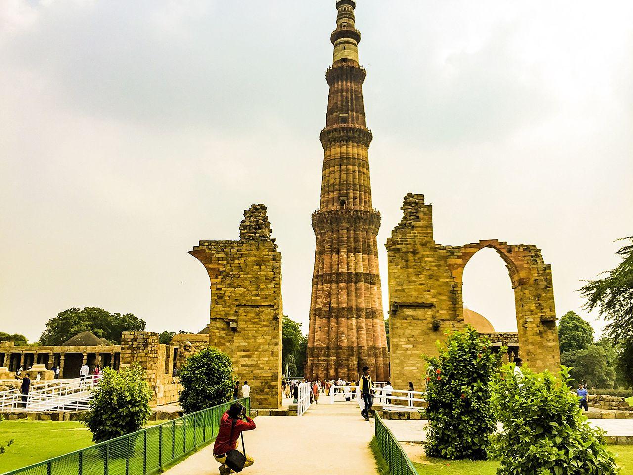 Vista del Qutub Minar