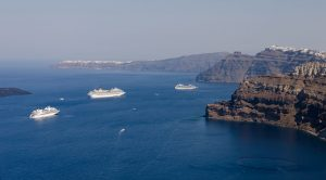 La caldera de Santorini